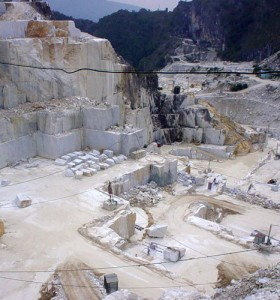 Marble quarry at Carrara, part of our Lucca, Genova & Cinque Terre tour