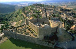 The hill town of Montalcino, origin of Brunello wines. Tuscany/Umbria tour