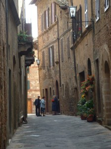 Charming lane in Pienza. Tuscan Hill Towns tour