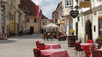 Linhartov Square in Radovljica, Slovenia