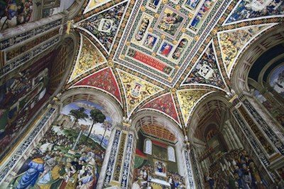 Frescoes from the Piccolomini Library Siena Duomo. Tuscany/Umbria tour