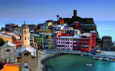 Vernazza, one of the Cinque Terre villages on our Lucca, Genova & Cinque Terre tour