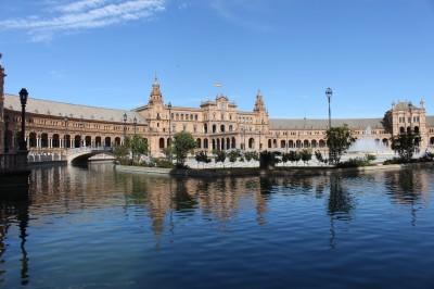 The Plaza Espana Seville Andalucia Spain
