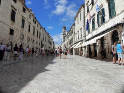 Fabulous Dubrovnik street. Croatia and Bosnia tour