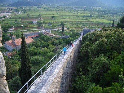 The 5 km Wall of Ston. Croatia & Bosnia tour