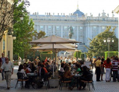 Plaza Oriente. Madrid & Central Spain tour